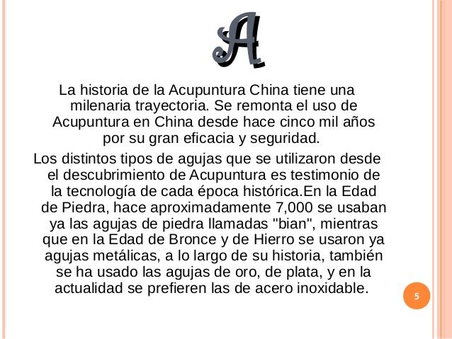 HISTORIA ACUPUNTURA
